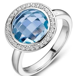 🎁NWT: Sterling & Topaz Round Shaped Ring